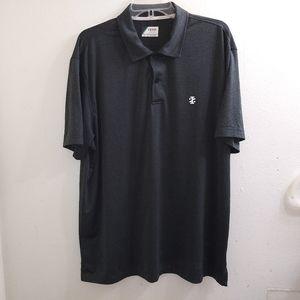 Izod Men's Golf Polo Shirt Gray Size Large